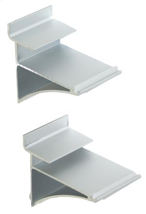 Aluminium shelf bracket