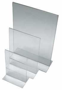Vertical Acrylic Sign Holder Double Sided Display